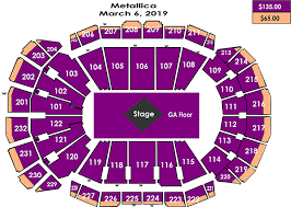 Metallica Seating Chart Metallica Sprint Center