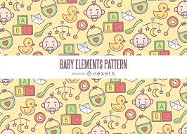 Baby Patterns Inspiration Colorful Baby Elements Pattern Vector Download