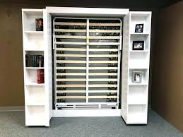 bifold bookcase murphy bed plans with bookshelf