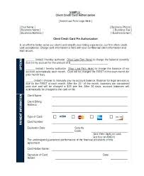 Credit Card On File Form Templates Credit Card Template Word Authorization Form Recurring Free
