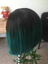Lace Hair Style fashion ombre dark green straight short bob synthetic lace front 8937 by wearticles.com