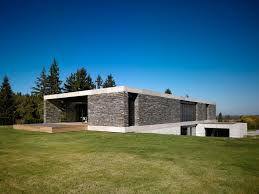 modern home architecture stone. Architecture Medium Size Modern Stone Wall House With White Floor Glasses Door Home R