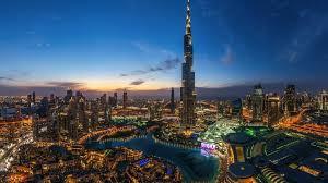 Night Lights In Dubai Hd Wallpaper