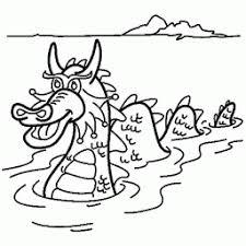 Kleurplaat Monster Van Loch Ness Kleurplaatarchiefnl
