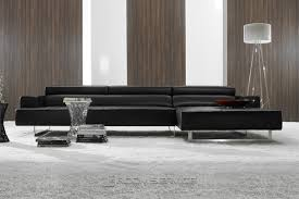 modern leather sofa. Amazing Contemporary Black Leather Sofa Modern Sofas Interesting Home W