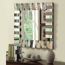 console table and decorative accessories with large wall mirror for living room awesome interior design ideas