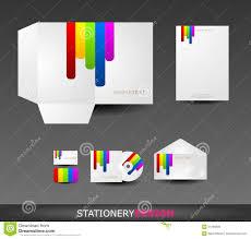 Formart Design Stationery Design Set In Vector Format Stock Vector