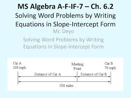 algebra slope problems solving word problems by writing equations in slope intercept form algebra point slope