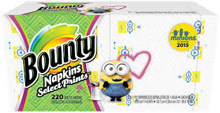 Amazon.com: Bounty Bounty Napkins, Minion Prints - 220 ct: Health &  Personal Care