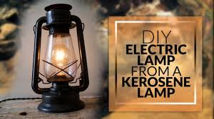diy how to make electric lamp from a kerosene lamp