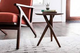 it small mid century modern side table