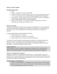 Career Objective For Real Estate Resume Resume Content Template University Career Services