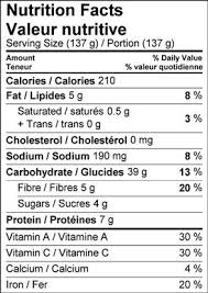 image of nutrition facts table for farro delicata squash salad