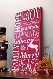 Word Signs Wall Decor christmas wooden wall art typography word art collage red and 59