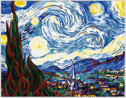 van gogh famous abstract paintings starry night painting by numbers acrylic oil painting on canvas art