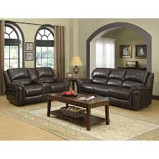 Living Room With Brown Leather Sofas Sofas Loveseats