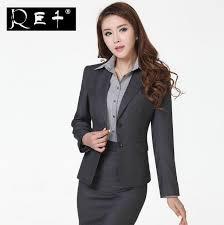 professional clothing wool fabric formal blazer women skirt suits work wear customized