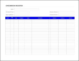 Check Ledger Free Bank Ledger Template Checkbook Excel Download Check Register