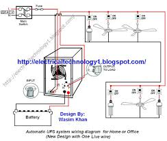 automatic ups system wiring circuit diagram for home or office(new Create Wiring Diagram automatic ups system wiring circuit diagram for home or office(new design with one live wire) power backup projects pinterest circuit diagram and live create wiring diagram online
