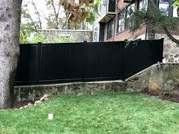 black vinyl privacy fence. Black Privacy Fence Photo Of Imperial Ma United States Vinyl Aleko Screen