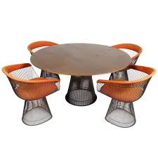 platner furniture. Warren Platner Bronze Dining Set For Knoll, Circa 1960s, Teak Top Sale At 1stdibs Furniture
