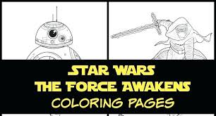 Coloring Pages Star Printable Star Wars The Force Awakens Coloring