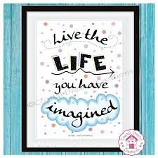 a4 typography print live the life you imagined home decor fun wall art on live the life you imagined wall art with a4 typography print live the life you imagined home decor fun