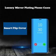 <b>Luxury</b> Smart View Mirror Plating Case For OPPO R11 <b>Leather Flip</b> ...