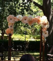 Paper Flower Archway Paper Flower Arch For A Wedding Paper Flowers Wedding