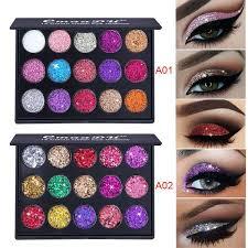 Buy CmaaDu <b>15 colors Glitter</b> Eye Shadow palette loose mineral ...