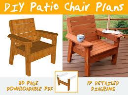 patio chair plans diy outdoor furniture ideas