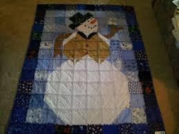 122 best jean quilts images on Pinterest | Craft, Flannel rag ... & Large snowman rag quilt. Adamdwight.com