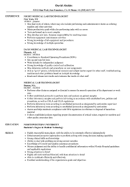 Medical Technologist Resume Sample Medical Lab Technologist Resume Samples Velvet Jobs 63