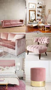 Chesterfield Couch Rosa Sofa Samtmöbel Landhausmöbel Wohnen Im