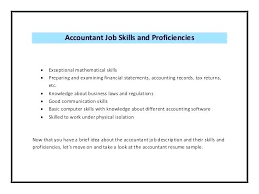 Accountant Skills Resumes General Accountant Resume Free Sample Cpa Samples Example Examples