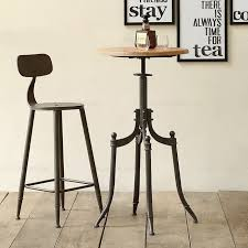 Wooden and metal chairs Furniture Vintage Metal Bar Chair Bar Table Lift 100 Wooden Bar Table Anti Rust Treatmentbar Furniture Sets1 Table1 Chair Aliexpress Vintage Metal Bar Chair Bar Table Lift 100 Wooden Bar Table Anti