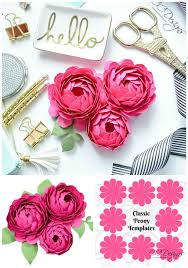 Cardstock Paper Flower Peony Paper Flower Template For The Love Of Paper Flowers Group