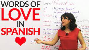 learn words of love in spanish