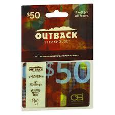 outback 50 gift card1 0 ea