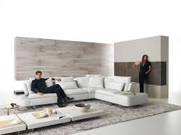 Furniture:Attractive White Leather L Shape Sectional Sofa Furniture For  Modern Living Room Design Plus