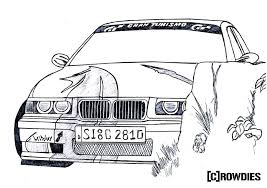 Bmw E36 Drawing Zeichnung Diogo Kunst Healthy Meals For Two
