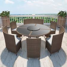 round table and chairs garden furniture
