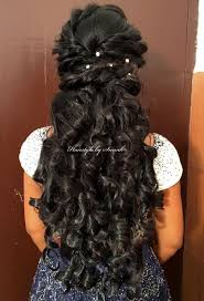 Then, after adoring a traditional bun on your wedding day, let them loose on your reception party. Hairstyle For Reception Hair Style For Party