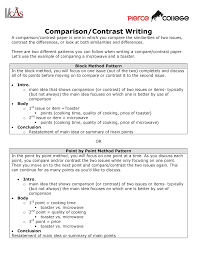 Comparison And Contrast Essays Comparison Contrast Writing Eng 101 English Studocu
