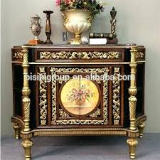 table foyer luxury antique replica console table vintage golden foyer entry table classic living room furniture table foyer
