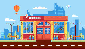 Nice book store stock vector Image of columns entrance