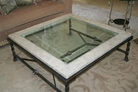 glass creative of wrought iron coffee table base with latest ideas and stone effect
