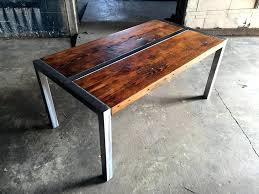 wood and metal coffee table simple rustic round