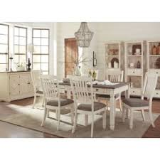 white rectangular dining table. Bolanburg White And Gray Rectangular Dining Room Set Table