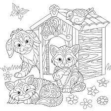 Kleurplaten Van Honden En Katten